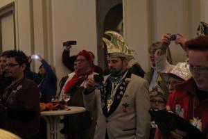 Narrenempfang im Landtag