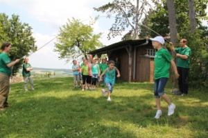 Setzlinge im Kletterwald