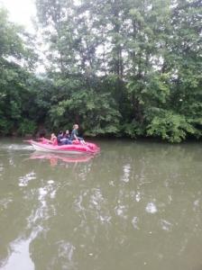 Setzlinge beim Bootfahren